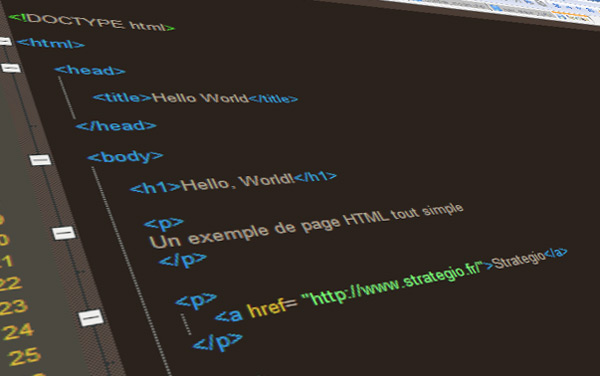 exemple code html
