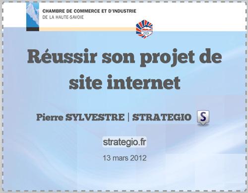 """Présentation """"Réussir son projet de site internet"""""""